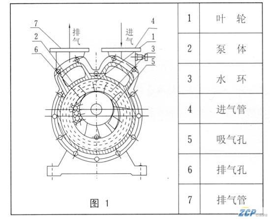 水环真空泵的工作原理